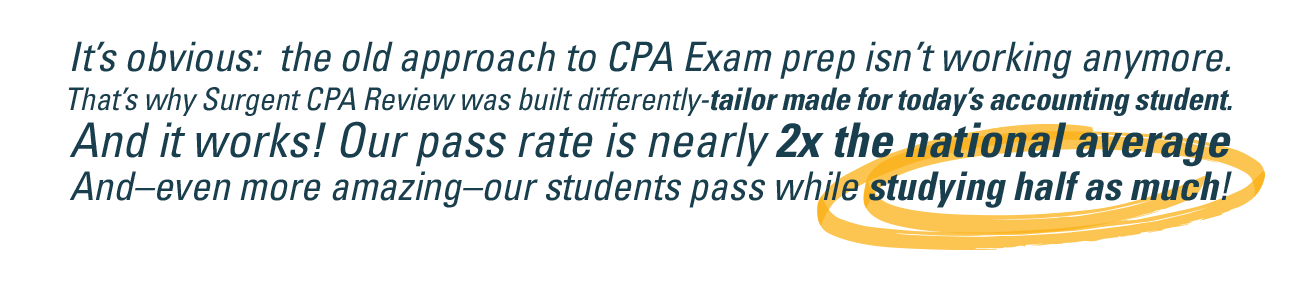 Surgent CPA Review Exam Prep Approach